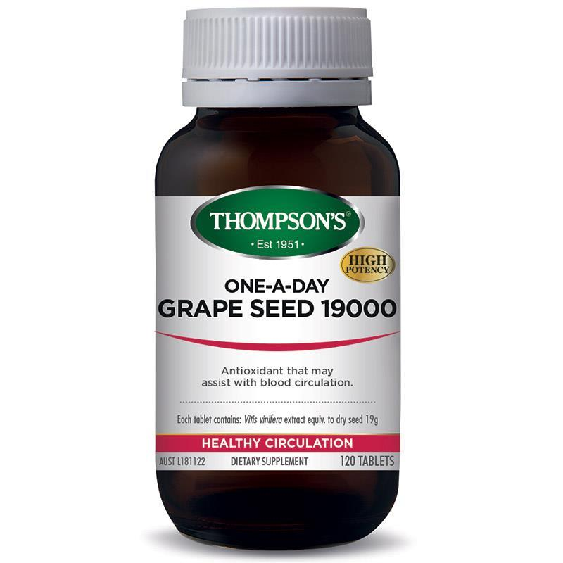 Thompsons 汤普森 葡萄籽 19000 120粒保质期21年3月