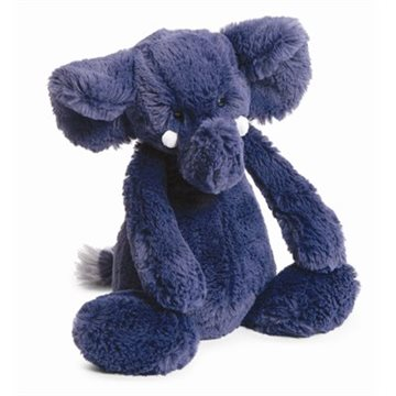 Jellycat 深蓝色大象 31cm - BAS3EB