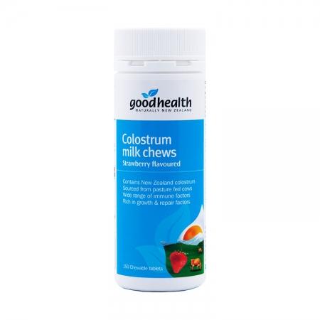 【限时特价】Good health 好健康 牛初乳咀嚼片草莓味 150片 保质期至22.03