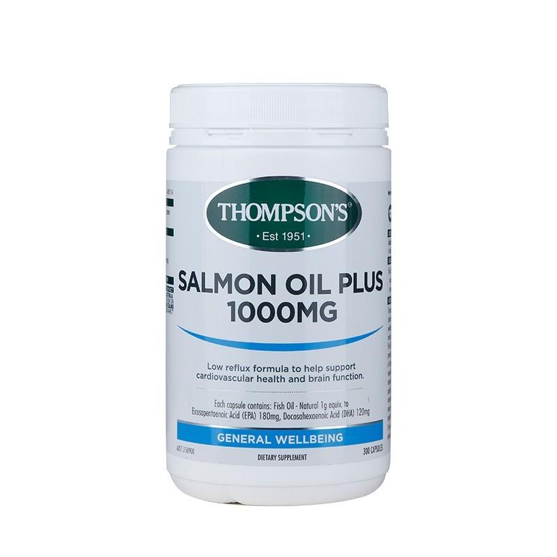 Thompson's汤普森 深海三文鱼油 1000毫克 300粒 保健品