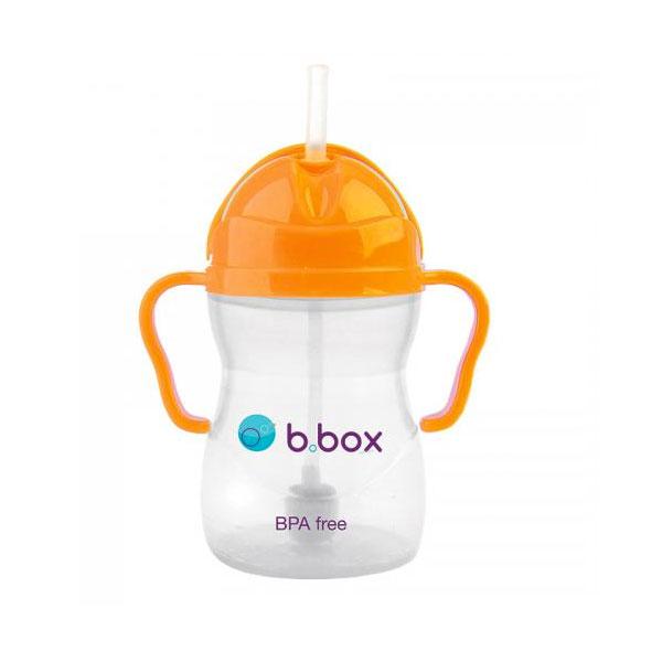 【双十一限时秒杀】BBox 宝宝重力吸管杯六个月以上 荧光橙色(3812)