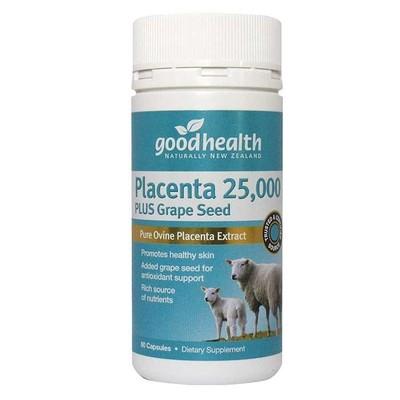 Goodhealth 好健康 羊胎素 25,000mg 加葡萄籽 60粒  保质期2020/7