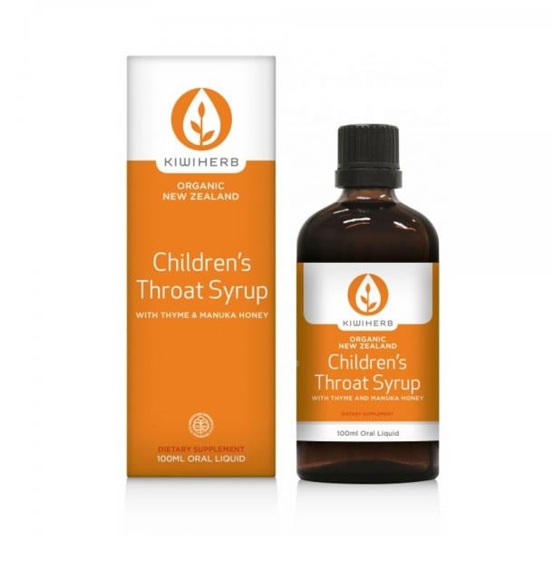 [买一送一]Kiwiherb 儿童throat缓解喉咙肿痛糖浆100ml