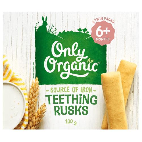 Only Organic 婴儿磨牙棒12支装  100g  2019/11