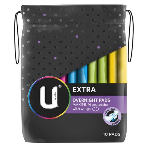 【超市采购】UbyKotex卫生巾 夜用超强吸收 防侧漏 不含荧光剂 10片装