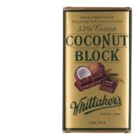 【超市采购】Whittakers椰子巧克力33%可可 250克