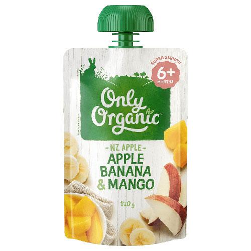 【超市】Only Organic 苹果/香蕉/芒果泥6个月以上 120g