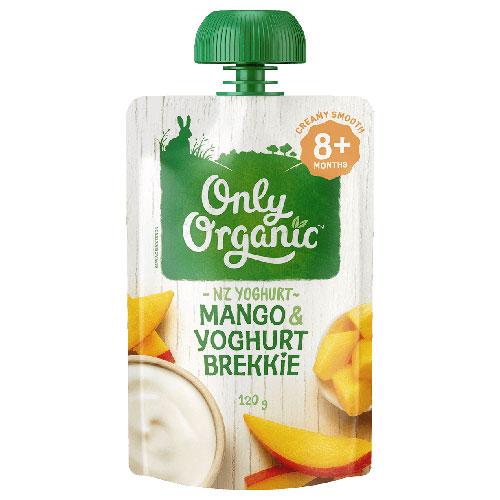 【超市采购】Only Organic 宝宝有机芒果酸奶果泥 8个月+ 120g(Mango & Yoghurt)